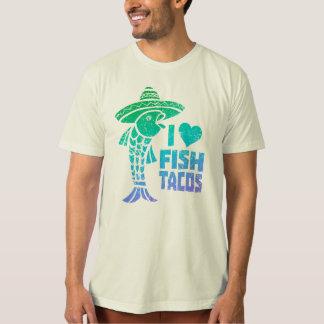 T-shirt J'aime la pièce en t de tacos de poissons