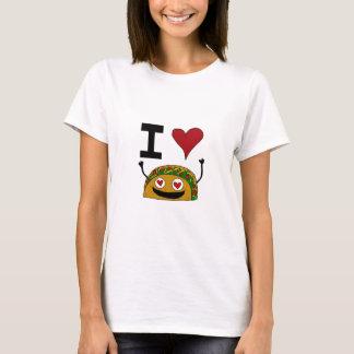 T-shirt J'aime la pièce en t des femmes de taco