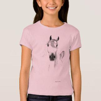 T-shirt J'aime le bébé de filles de chevaux - chemise de