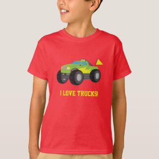 T-shirt J'aime le camion de monstre pour des garçons de