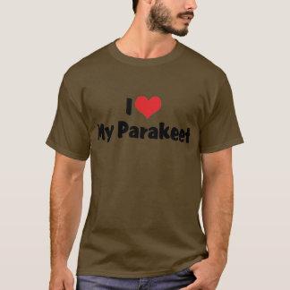 T-shirt J'aime le coeur ma perruche - amant de perroquet