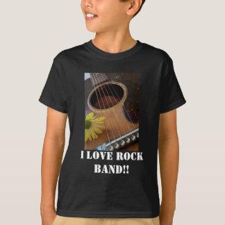 T-shirt , J'aime le groupe de rock ! !