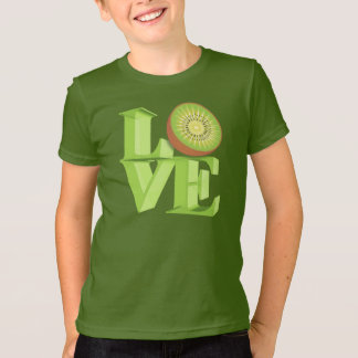 T-shirt J'AIME le KIWI (kiwis/baie de kiwi)