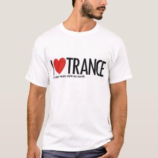 T-shirt J'aime le logo de musique de transe