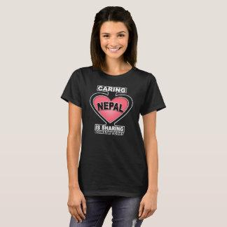 T-shirt J'aime le Népal   s'inquiétant partage   donne le