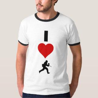 T-shirt J'aime le Paintball (vertical)