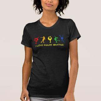 T-shirt J'aime le patinage artistique - dessus noir et