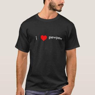T-shirt J'aime le pewpew (le NOIR)