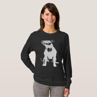 T-shirt j'aime le pitbull de chien