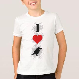T-shirt J'aime le style urbain de photographie (vertical)