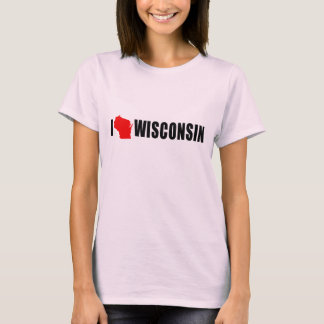 T-shirt J'aime le Wisconsin