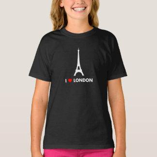 T-shirt J'aime Londres - chemise de Tour Eiffel