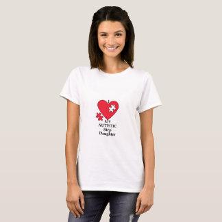 T-shirt J'aime ma fille autiste d'étape