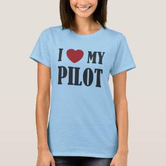T-shirt J'aime ma pièce en t pilote