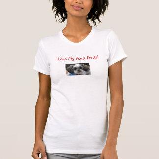 T-shirt J'aime ma tante Betty ! - Customisé