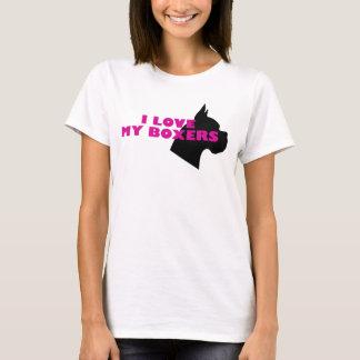 T-shirt J'aime mes boxeurs