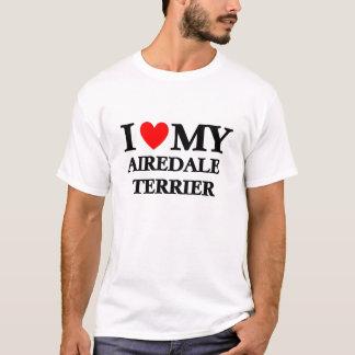 T-shirt J'aime mon Airedale Terrier