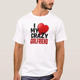 T-shirt J'aime mon amie folle