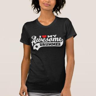 T-shirt J'aime mon batteur impressionnant