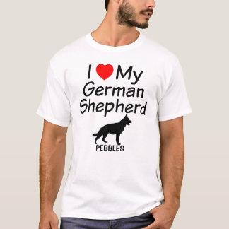 T-shirt J'aime mon chien de berger allemand