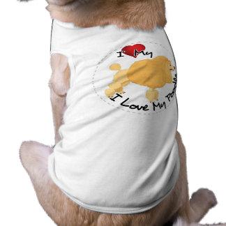 T-shirt J'aime mon chien de caniche