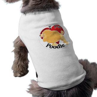 T-shirt J'aime mon chien de caniche drôle et mignon