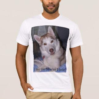 T-shirt J'aime mon chien de traîneau sibérien !
