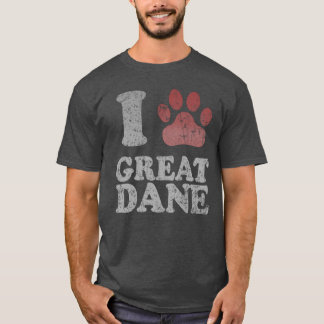 T-shirt J'aime mon great dane