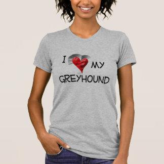 T-shirt J'aime mon lévrier