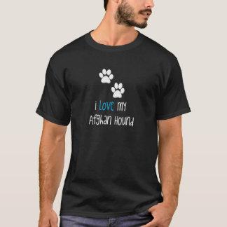 T-shirt J'aime mon lévrier afghan