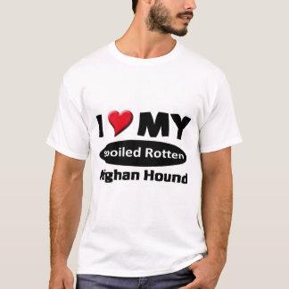 T-shirt J'aime mon lévrier afghan putréfié corrompu