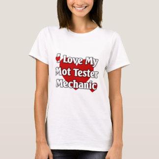 T-shirt J'aime mon mécanicien d'appareil de contrôle de