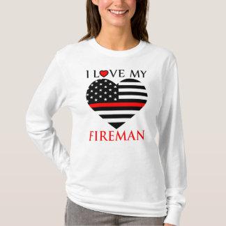 T-shirt J'aime mon pompier - sapeur-pompier