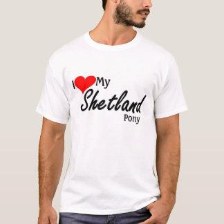 T-shirt J'aime mon poney de Shetland
