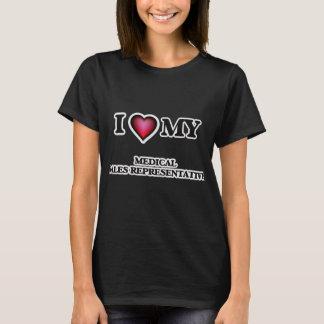T-shirt J'aime mon représentant de commerce médical