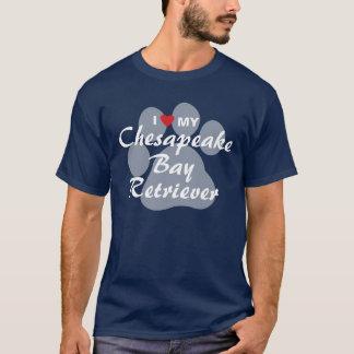 T-shirt J'aime mon Retriever de la Baie de Chesapeake