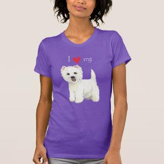 T-shirt J'aime mon Westie