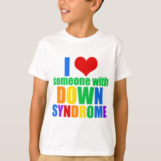 T-shirt J'aime quelqu'un avec syndrome de Down