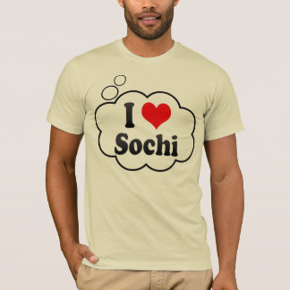 T-shirt J'aime Sotchi, Russie. Ya Lyublyu Sotchi, Russie