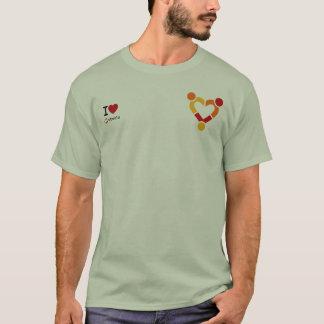 T-shirt J'aime Ubuntu