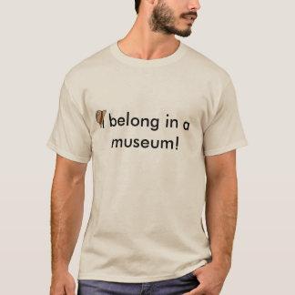 T-shirt J'appartiens dans un musée