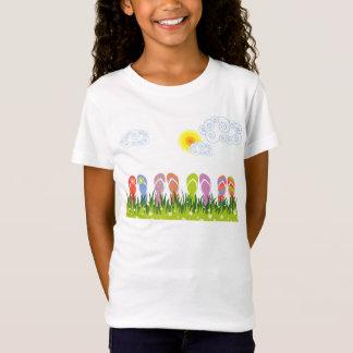 T-Shirt Jardin coloré d'amusement de bascules
