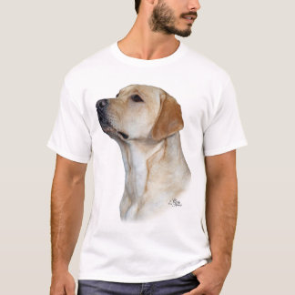 T-shirt jaune de labrador retriever