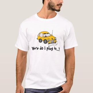 T-shirt jaune de voiture électrique…
