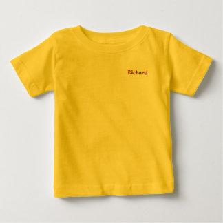 T-shirt jaune du Jersey d'amende de bébé de