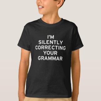 T-shirt Je corrige la grammaire
