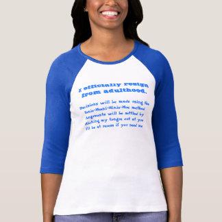 T-shirt Je démissionne officiellement de l'âge adulte