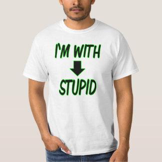 T-shirt je des hommes suis avec t stupide