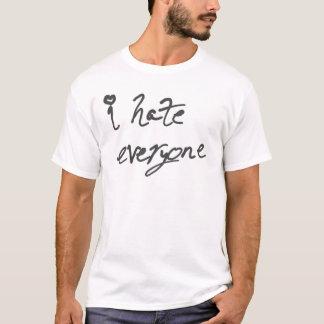 T-shirt Je déteste chacun chemise