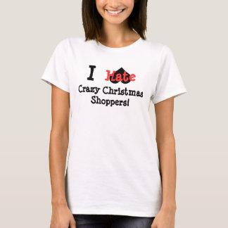 T-shirt Je déteste les clients fous de Noël